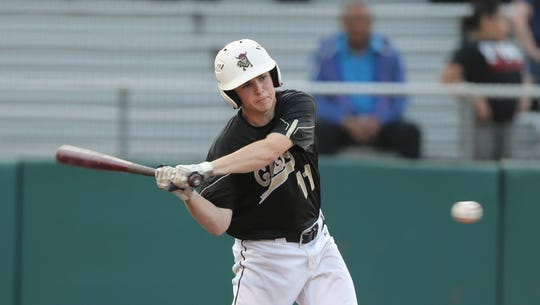 Iona Prep's Matt Panker (11) takes a swing at a pitch