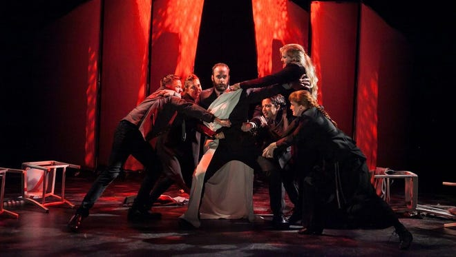 "The National Players production of ""Julius Caesar"" will be staged Wednesday at the Clemens Center."