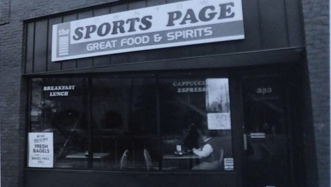 The Sports Page was located in downtown Lansing on Washington Square, undated photo.
