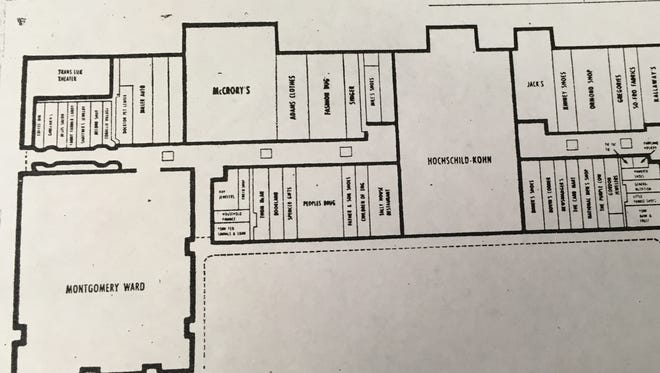 The layout of stores for the sprawling York Mall official opening on October 3, 1968.
