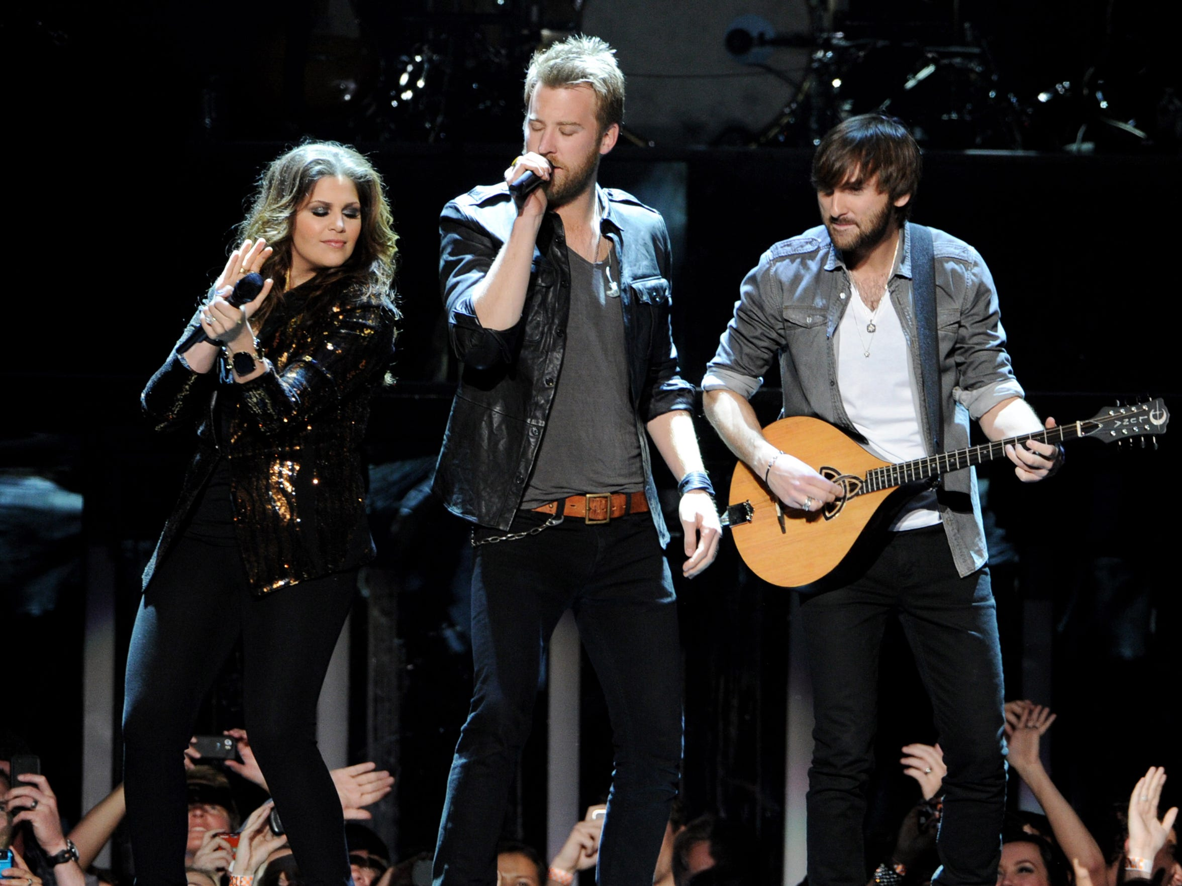 From left to right, musicians Hillary Scott, Charles Kelley and Dave Haywood of Lady Antebellum. The trio will perform at 7:30 p.m. June 1 at the Isleta Amphitheater in Albuquerque.