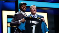 Jalen Ramsey (Florida State) with NFL commissioner