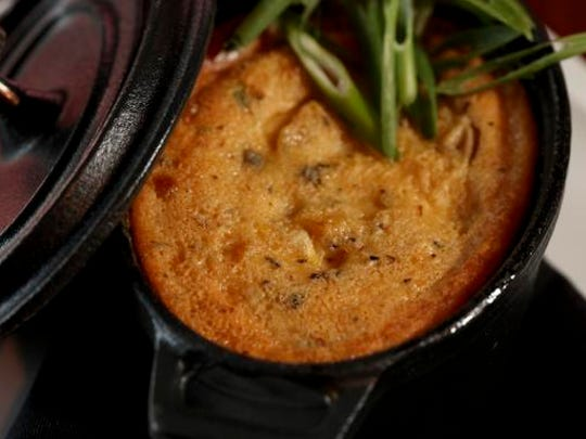 The Corn Pudding served at the Village Anchor in Anchorage.