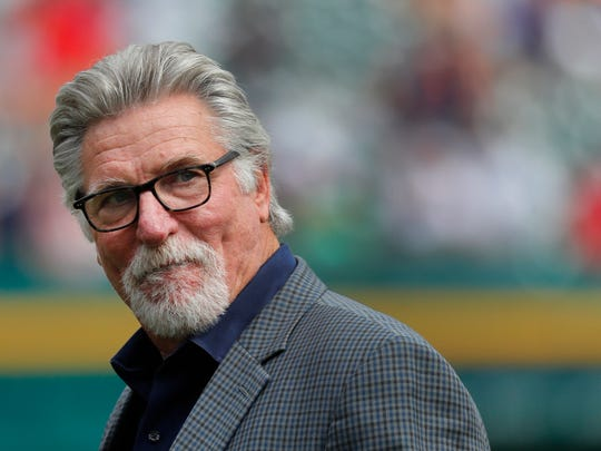 Former Detroit Tigers pitcher Jack Morris watches a game between the Tigers and the Chicago White Sox in Detroit on June 3, 2017.