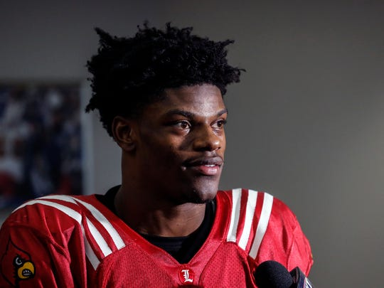 Louisville's Lamar Jackson, after practice on Wednesday, talks about the experience of winning the Heisman.Dec. 14, 2016