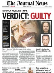 The front page of the Thursday, June 21, 2012 Westchester-Putnam edition of The Journal News was dominated by the Novack verdict.