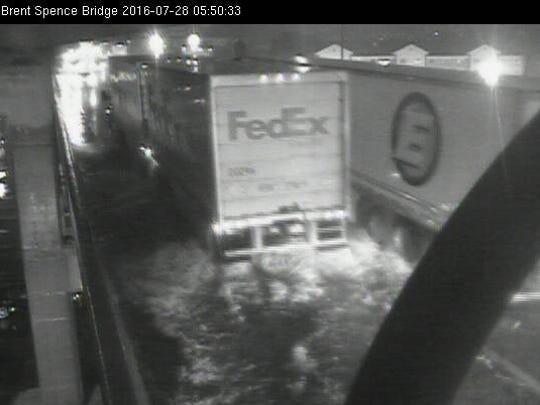 A still from a traffic camera of NB Brent Spence Bridge