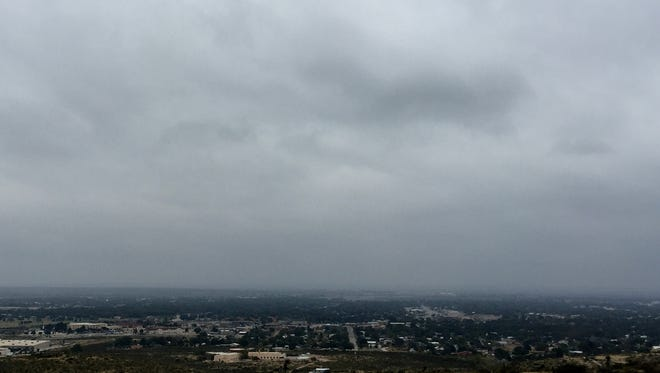 Stormy skies, pictured in 2016, hover above Carlsbad.