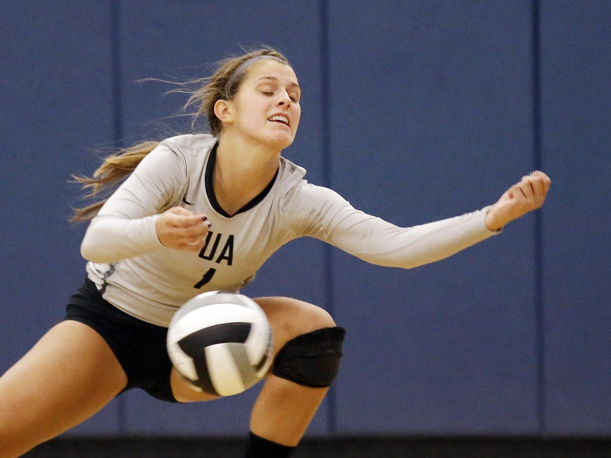 Ursuline's Avery Naylor attempts to save the ball during a game against Mount Notre Dame last season.