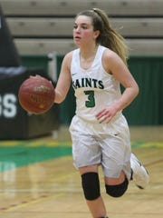 Hanna Strawn, a senior, has been running Seton Catholic Central's offense for four years. Last year, she earned MVP honors as the Saints won the NYSPHSAA Class B state title.