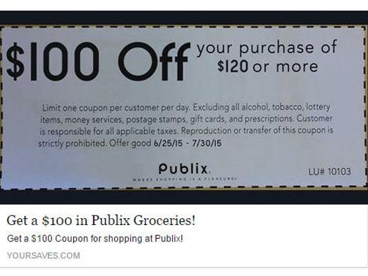 Fake Publix Coupon