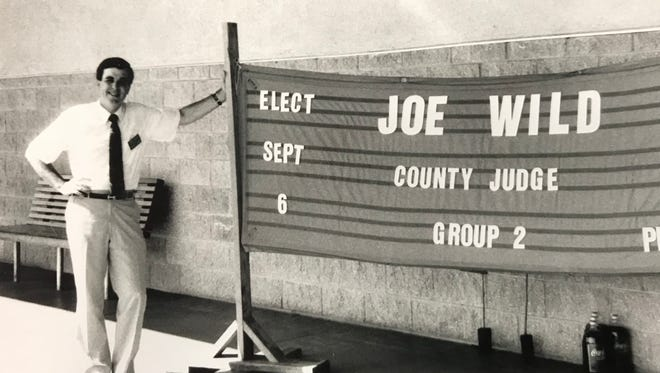 Joe Wild first ran for county judge in 1988