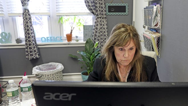 Janice Desmond of Pearl River was photographed at her office in Pearl River l April 17, 2018.  After a 20 year career in recruitment three years ago Desmond became a NYS licensed private investigator.
