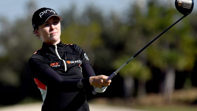 Shrewsbury's Brittany Altomare shot a first-round 70 to tie for 13th after one round of the Ladies Scottish Open.