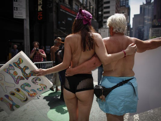 Topless March Held In New York City