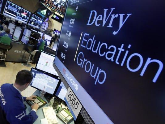 Financial Markets Wall Street FTC DeVry Lawsuit