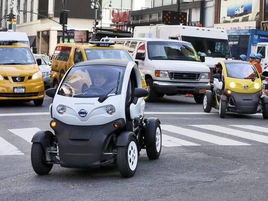 APTOPIX Auto Show Nissan Future of Electrics