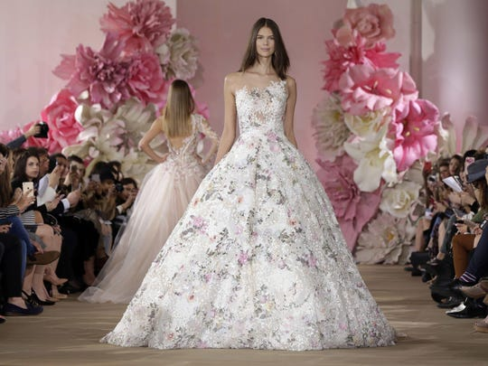 Spring inspired many of the gowns from the Ines de