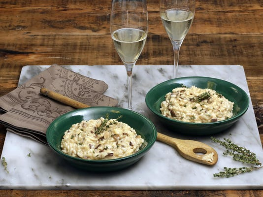Food American Table Champagne Risotto