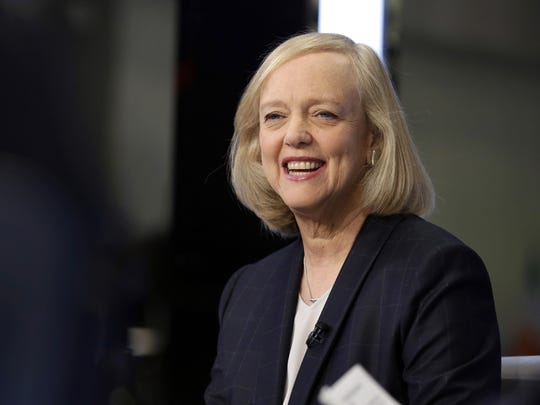 FILE - In this Nov. 2, 2015 file photo, Hewlett Packard Enterprise President and CEO Meg Whitman is interviewed on the floor of the New York Stock Exchange. Whitman joined the bid of Sacramento, Calif., for a Major League Soccer franchise on Wednesday, Dec. 6, 2017, as the four finalists made presentations to the league's expansion committee. (AP Photo/Richard Drew, File)