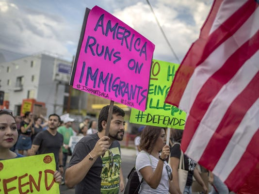 """Thousands Join """"Defend DACA"""" March In Los Angeles"""