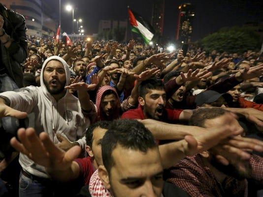 APTOPIX Jordan Protests
