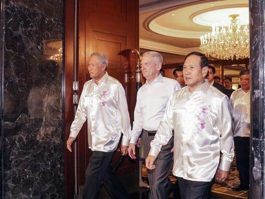 Ng Eng Hen,Jim Mattis,Wei Fenghe