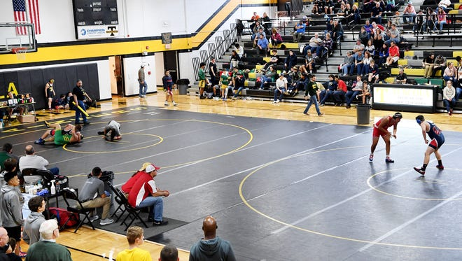 Scenes from the WMAC tournament at Tuscola High School January 27, 2018.