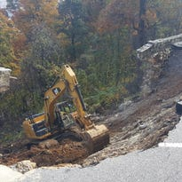 Chimney Rock State Park wall collapse repairs begin, half of park still closed