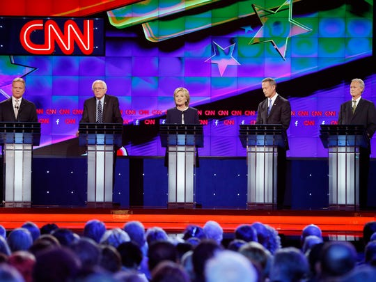 Democratic presidential candidates from left, former