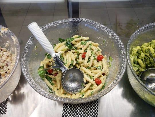 Deli salads at the Granola Jar may be enjoyed as a