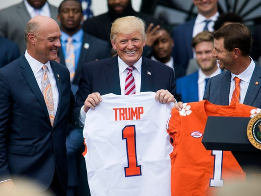 President Trump Welcomes Clemson Tigers to White House