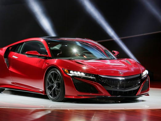 Acura rolled out their new 2016 NSX supercar Monday