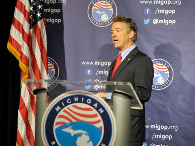 GOP presidential hopeful Sen. Rand Paul, R-Ky., speaks