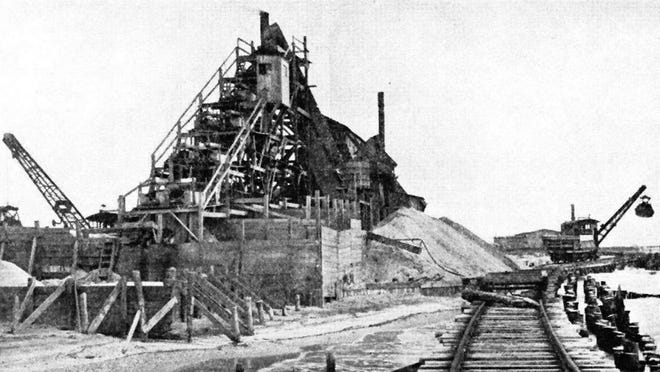 Cape May Sand Company plant once was located on the site where Sunset and Higbee beaches meet.