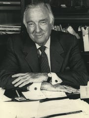 Longtime CBS News anchor Walter Cronkite is shown in