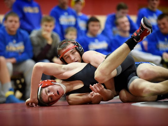 Annville-Cleona's Adriel Merjudio, left, and Northern