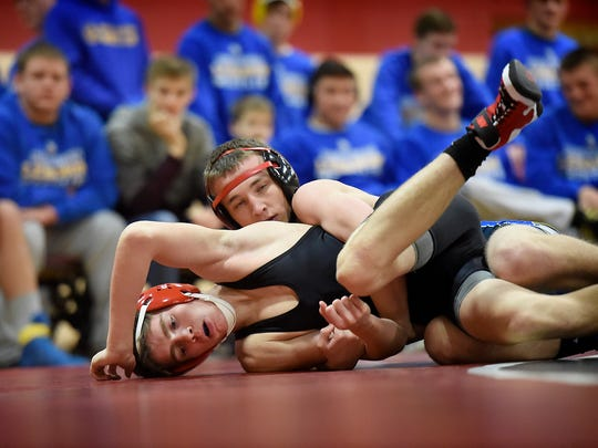 northern lebanon wrestlers too much for annville cleona