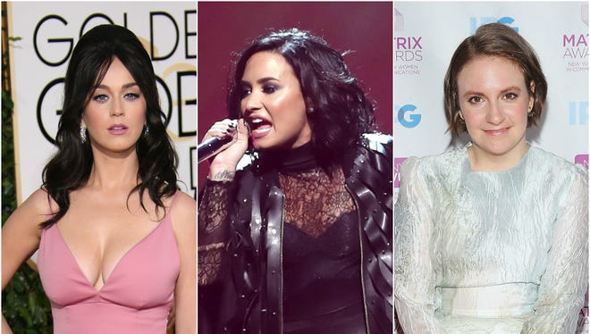 Katy Perry, Demi Lovato and Lena Dunham have all tweeted about going to the Democratic National Convention.