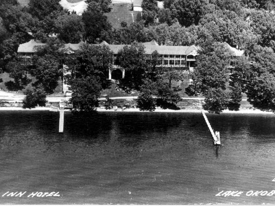 A photo from the 1930s shows The Inn in Okoboji, Iowa.