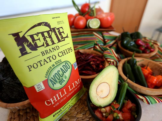 Chips made with avocado oil will be available soon from Kettle Brand.