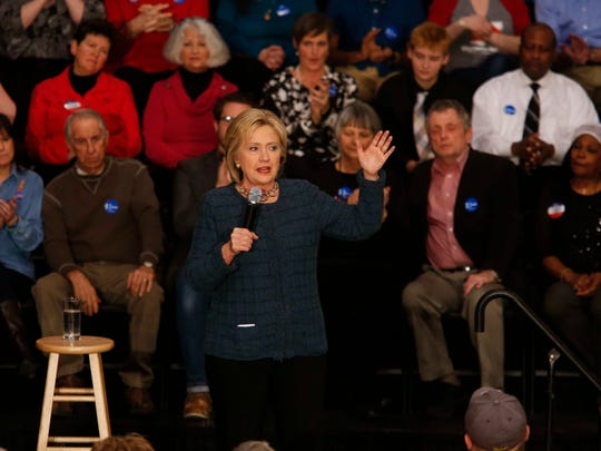 Sen. Hillary Clinton made her case in front of more than 500 supporters at Gallagher-Bluedorn Performing Arts Center in Cedar Falls on Tuesday, Jan. 16, 2016.