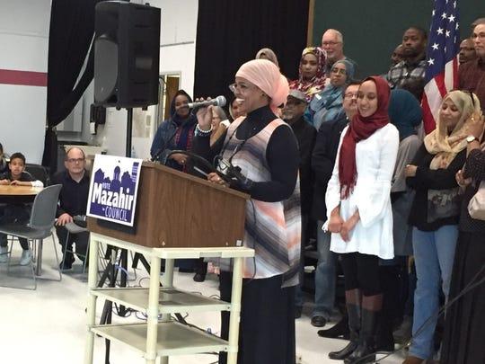 Mazahir Salih announces her candidacy for an at-large