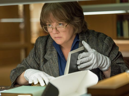 "Melissa McCarthy plays an author who can't get a break - and so she turns to forgery - in ""Can You Ever Forgive Me?"""