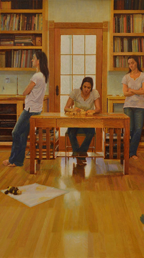 """""""Puzzle,"""" a painting by Woodinville's Brandy Agun,"""