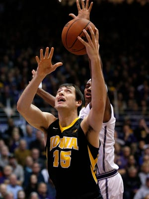 Iowa forward Ryan Kriener was the biggest bright spot in Sunday's loss, putting in a career-high 14 points. The freshman from Spirit Lake appears to have earned a bigger role for the Hawkeyes.