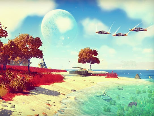 A scene from No Man's Sky.