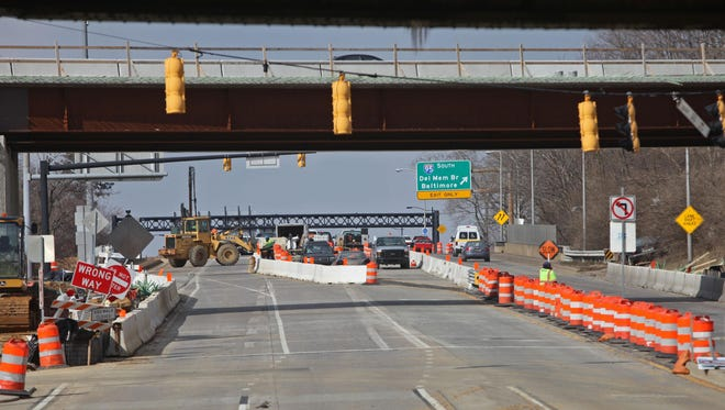 Construction continues at US202 and I 95 on Wednesday.