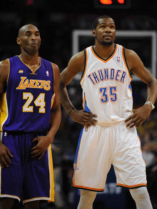 77a776685 Kevin Durant on Kobe Bryant   I d want to play with a guy like that