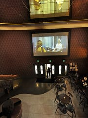Sinema is housed in Nashville's historic Melrose theater and features two levels of dining space.
